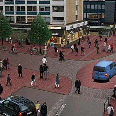 Huittisten keskustan liikenteen sujumiseksi on esitetty useita ratkaisumalleja. Tässä yksi niistä.