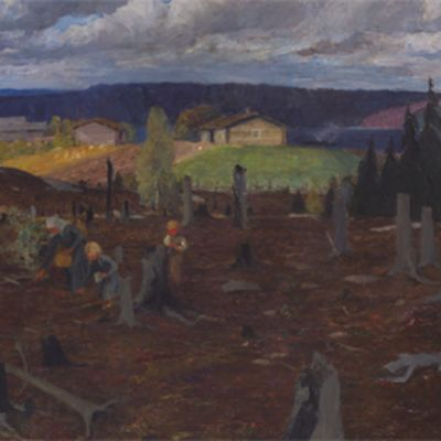 Venny Soldan-Brofeltin maalaus Kaskimaa