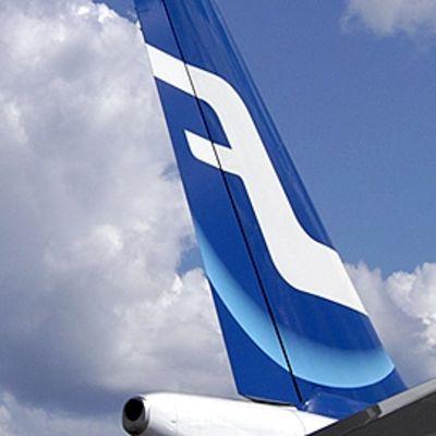 Finnairin lentokoneen pyrstö