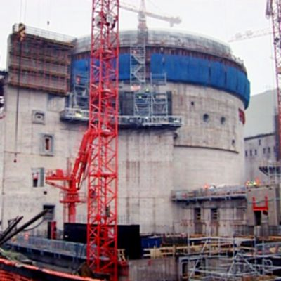 Olkiluodon ydinvoimalatyömaa.