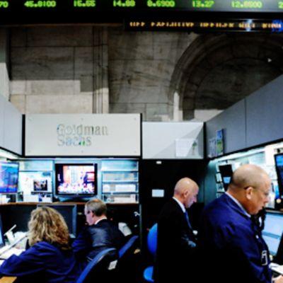 Goldman Sachsin kaupankäyntipaikka New Yorkin pörssissä.