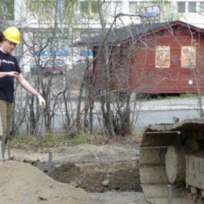 Kaupunkiarkeologisia kaivauksia Torniossa