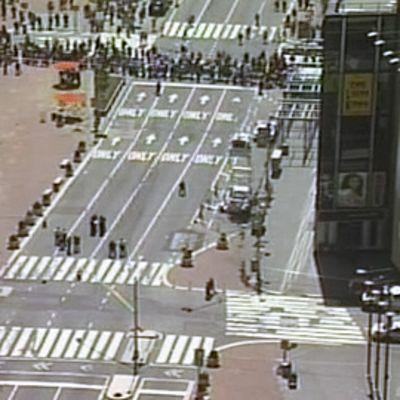 Poliisin evakuoima New Yorkin Times Square