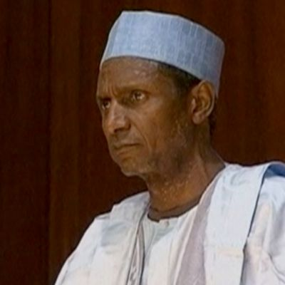 Nigerian edesmennyt presidentti Umaru Yar´Adua.
