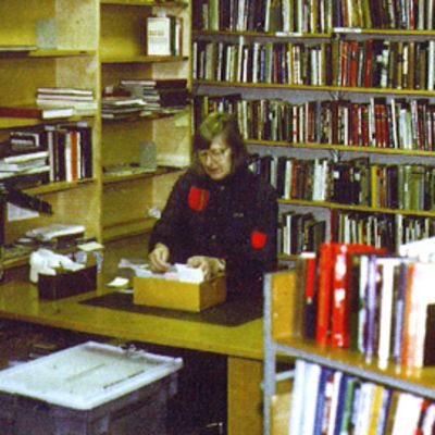 Koukkuniemen kirjasto 1980-luvulla.