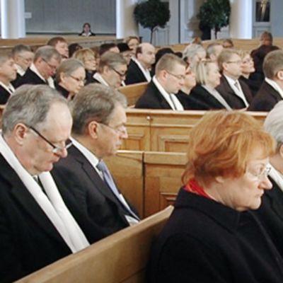 Valtiopäivien avajaisjumalanpalvelus.