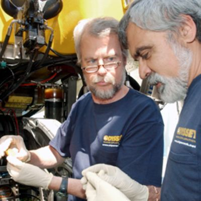 Greg Stemm ja Tom Dettweiler tutkivat vanhoja kolikoita