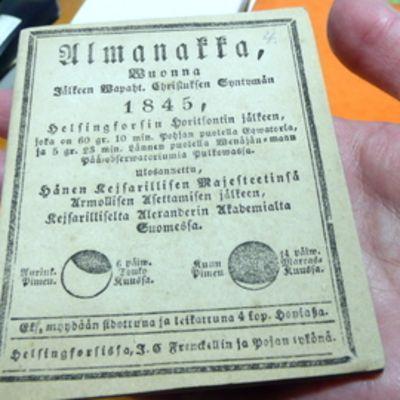 Almanakka vuodelta 1845.