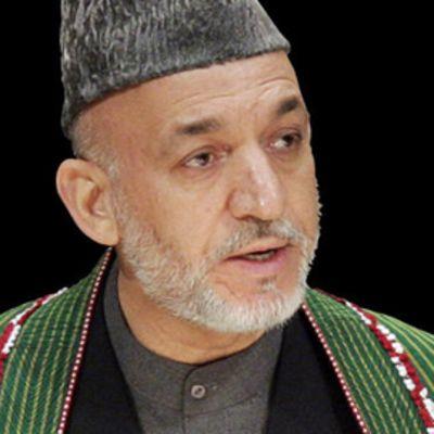 Afganistanin presidentti Hamid Karzai