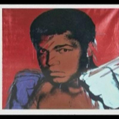 Andy Warholin maalaus Muhammad Alista.