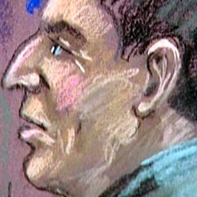 Bernard Madoffin apulainen Frank Dipascali oikeusistuinpiirtäjän näkemyksen mukaan.
