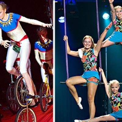 Lapsia sirkuskoulussa