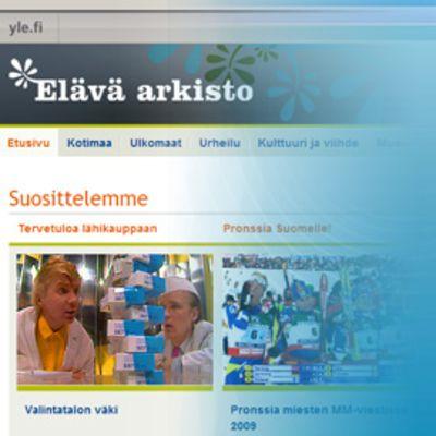YLEn Areena ja Elävä arkisto -sivustot