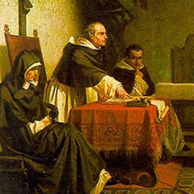 Maalaus kolmen tumarin edessä uhmakkaana seisovasta Galileista