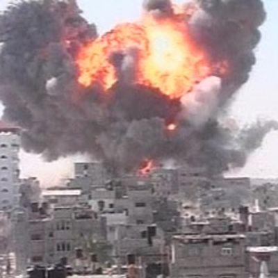 Räjähdys Gazassa tiistaina13.1.2009