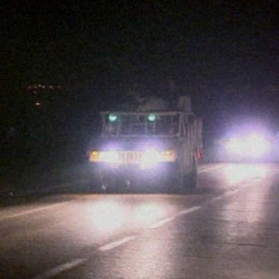 Israelin maajoukkoja siirtymässä myöhään illalla 3. tammikuuta.