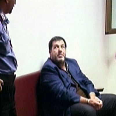 Salvatore Coluccio pidätettynä poliisiasemalla