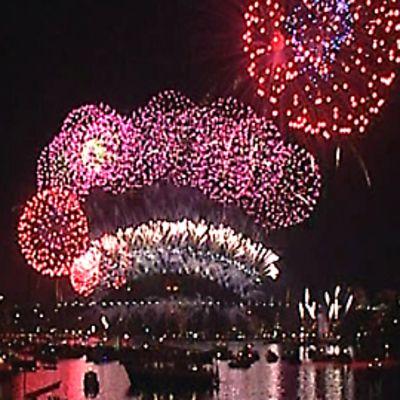 Ilotulitus Sydneyn satamassa