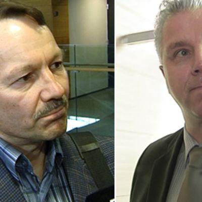 Antti Leppävuori (vas.) ja Jari Piirainen