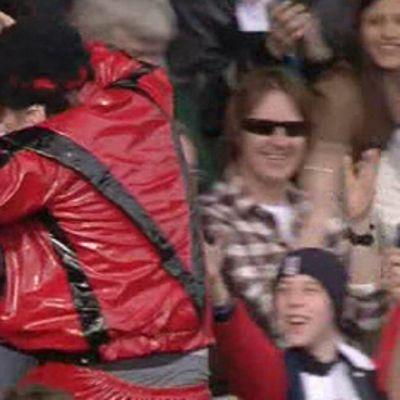 Fulhamin kannattaja oli sunnuntaina pukeutunut Michael Jacksoniksi.