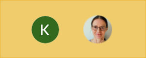 Kuvakaappaus ikoneista: Googlen kirjautumisikonissa nimikirjain tai valokuva.