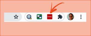 Kuvakaappaus Chrome-selaimesta: Yläpalkissa näkyy LastPassin kuvake, kun se on liitännäisenä selaimessa.