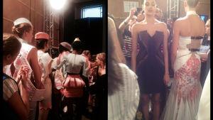 Bakom kulisserna på London Fashion Week