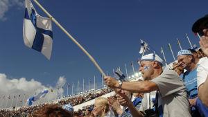 Yleisurheilun MM-kisat 2005 Helsinki, yleisöä.
