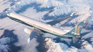 Ett Boeingplan i luften.