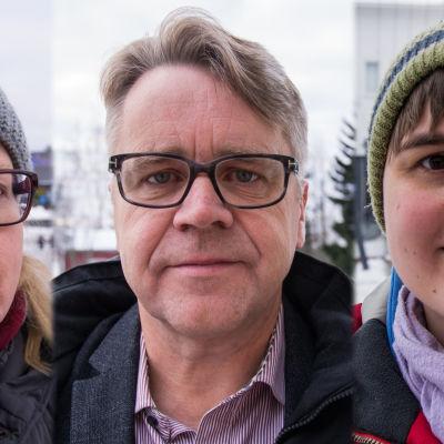 Heidi Sundström, Peter Östman och Janina Andersson i Larsmo kommenterar varför Sauli Niinistö är så populär just där.