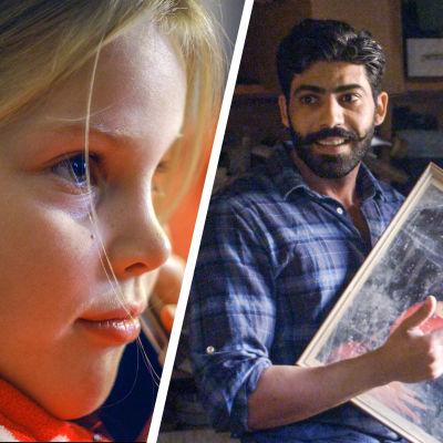 Närbild på Liv (Josefin Sonck), Alma (Stella Miettinen) och Mohamed (Bakr Hasan) i Längtan-kortfilmerna.