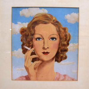 René Magritte: Skiss för cigarettmärket Belga (1935)