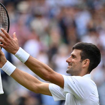 Novak Djokovic efter att ha säkrat sin 50:e kvartsfinalplats i grand slam-sammanhang