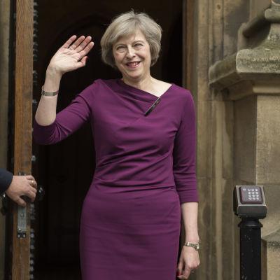 Inrikesminister Theresa May utanför parlamentet den 7 juli 2016.