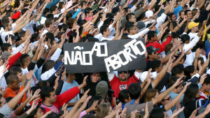 Demonstration mot abort i Sao Paulo, Brasilien, i maj 2007.