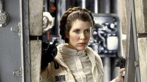 Carrie Fisher som Leia i filmen  The Empire Strikes Back 1980.