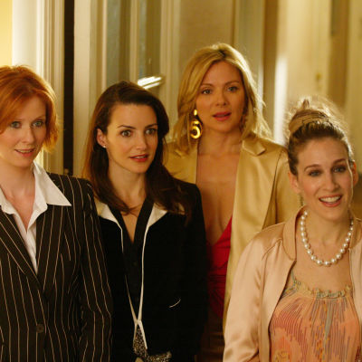 Huvudkaraktärerna i tv-serien Sex and the city: Miranda, Charlotte, Samantha, Carrie