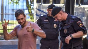 Pjotr Verzilov greps för förhör i juli 2018