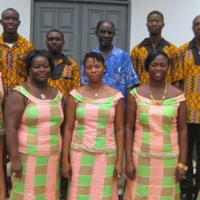 Ghanalainen Voices of Praise -kuoro.
