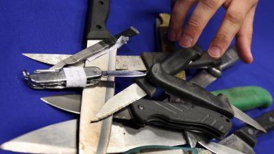 Beslagtagna knivar