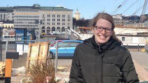 """Projektledare Johanna Welander från Korjaamo Group om det nya """"Allas"""" pop up-caféet."""