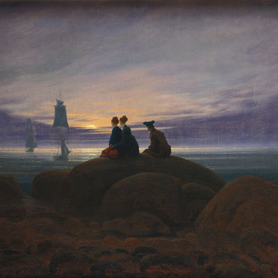 Caspar David Friedrich - Mondaufgang am Meer (1822)