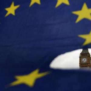 EU-flagga och Big Ben