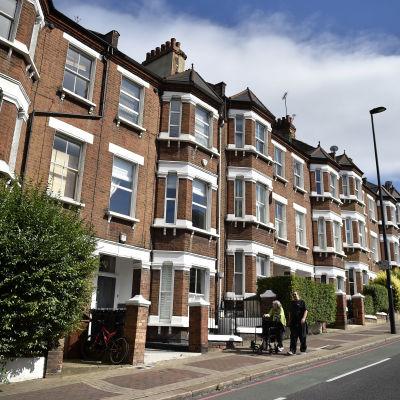Bostadshus i London i augusti 2016