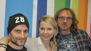 Lenni-Kalle Taipale, Susanna Heikki, Juha-Pekka Sillanpää Radio Suomen Levylautakunnassa