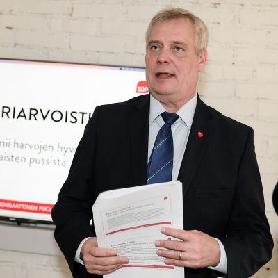 SDP-ordföranden Antti Rinne