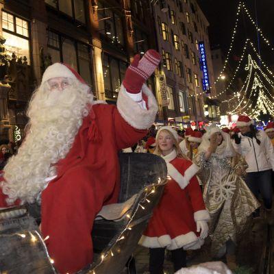 Julgubben på Alexandersgatan i Helsingfors