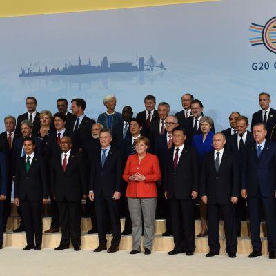 Världsledarna samlas på G20-mötet i Hamburg.