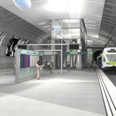 Tågstationen vid Helsingfors-Vanda flygplats.