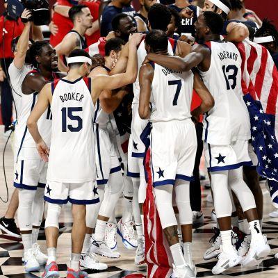 USA:s basketherrar firar OS-guld.